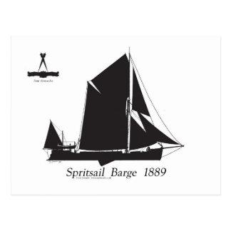 1889 péniche de spritsail - fernandes élégants cartes postales