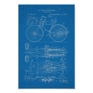 1890 copies vintages d'art de brevet de conception poster