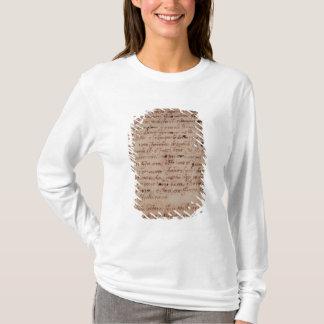 1895-9-15-503 page de W.34v d'écriture T-shirt