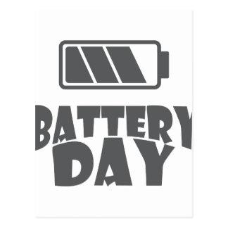 18 février - jour de batterie - jour carte postale