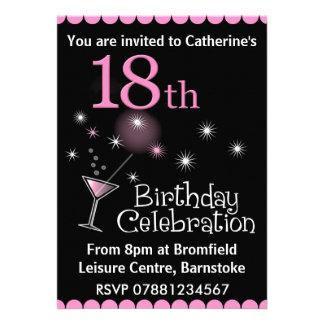 18ème Invitation de fête d anniversaire