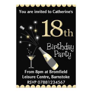 18ème Invitation de fête d'anniversaire