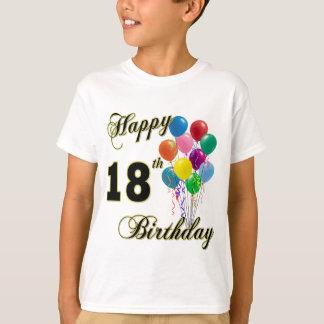 18ème T-shirt heureux d'anniversaire avec des