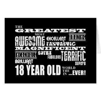 18èmes ans de fête d'anniversaire d'amusement carte de vœux