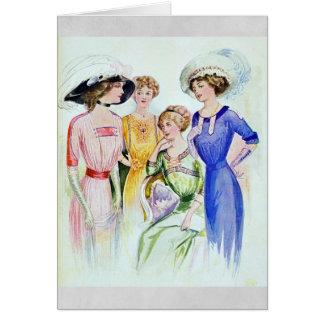 1911 cartes vintages de mode