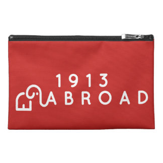 1913 voyagent à l'étranger sac pochette de voyage