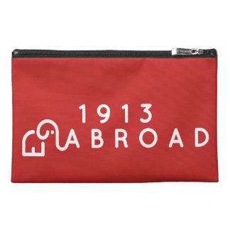 1913 voyagent à l'étranger sac trousses de voyage