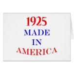 1925 a fait en Amérique Cartes