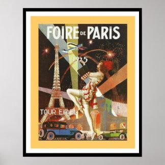 1925 affiche 16 x 20 de Foire De Paris