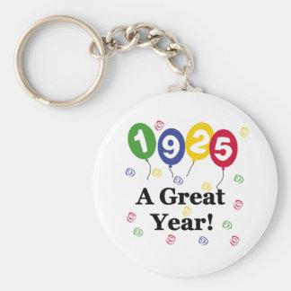 1925 un anniversaire de grande année porte-clé rond