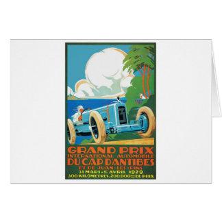 1929 casquette D'Antibes Grand prix emballant Carte De Vœux