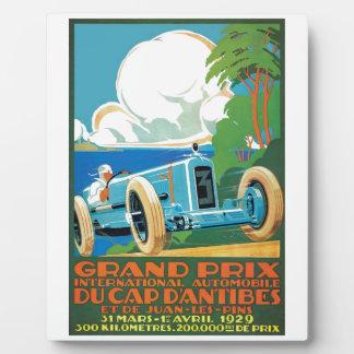 1929 casquette D'Antibes Grand prix emballant Plaque Photo