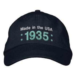 1935 ou tous NOIRS et TEAL de l'anniversaire A6A Casquette Brodée