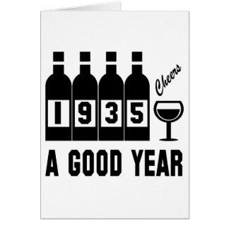 1935 une bonne année cartes