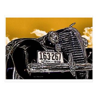 1938 cartes postales vintages d'automobile de