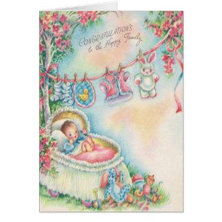 1948 cartes vintages de félicitations de bébé