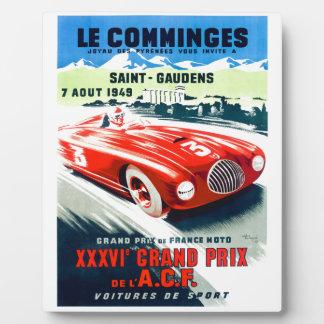 1949 Français Grand prix emballant l'affiche Plaque Photo