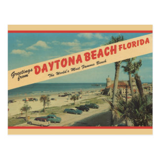 1953 salutations de carte postale de Daytona Beach