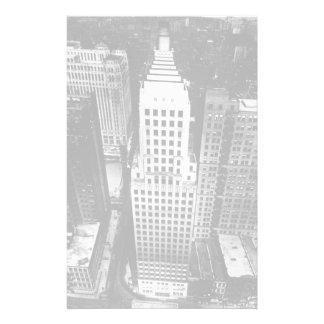 1960 :  Une vue aérienne d'un gratte-ciel de Chica Papier À Lettre Customisable