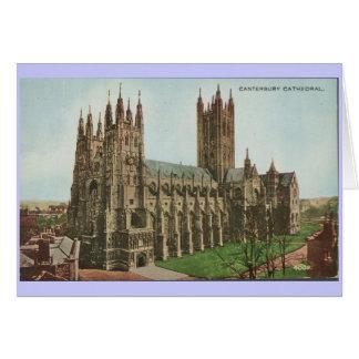 1966 cathédrales vintages de Cantorbéry de carte