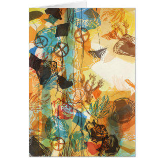 1972, avant carte abstraite de pavots de désert de