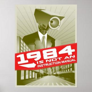 1984 n est pas un manuel d instruction posters