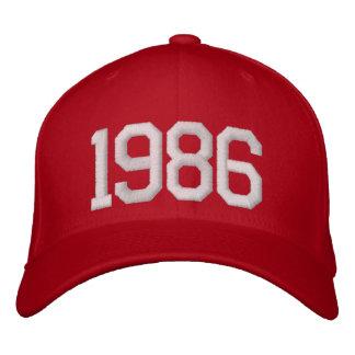 1986 ans casquette brodée