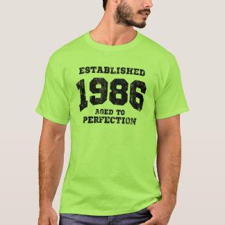 1986 établis âgés à la perfection t-shirt