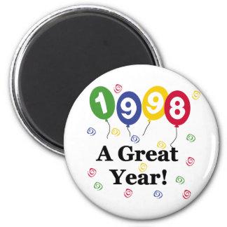1998 un anniversaire de grande année magnet rond 8 cm