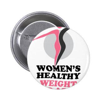 19 janvier - jour sain du poids des femmes badges