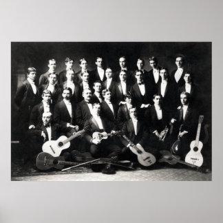 19ème Le groupe musical des hommes de C Posters