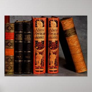 19ème siècle décoratif antique d'affiche de livres