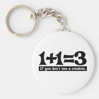 1+1=3, si vous n'utilisez pas un préservatif -- T- Porte-clé