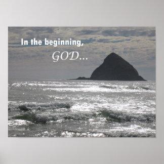 1:1 de genèse au début, Dieu Posters
