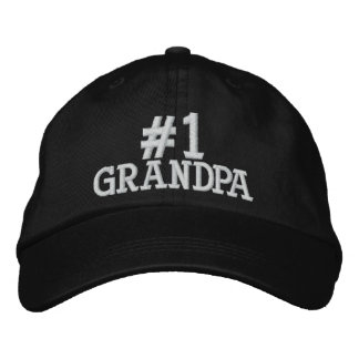 #1 casquette brodé par grand-papa du numéro un casquette brodée