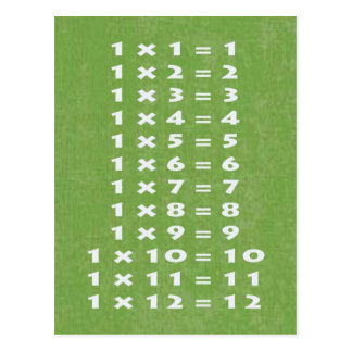 39 tables de multiplication cartes postales zazzle