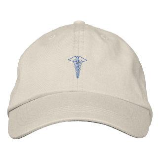 "1"" contour de caducée casquette brodée"
