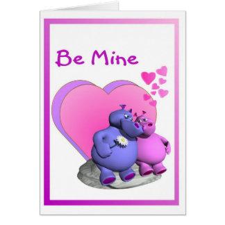 1. L'hippopotame envoûté Caricatures Valentine Carte De Vœux