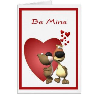 1. L'ours adorable Caricatures Valentine Carte De Vœux