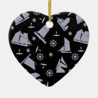 1 nautique des fernandes élégants ornement cœur en céramique