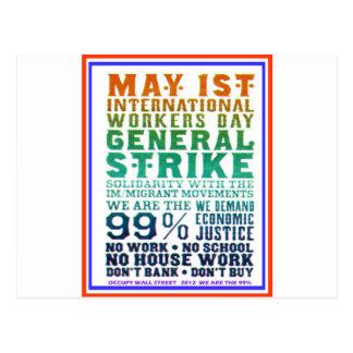 1er mai le jour international de travailleurs cartes postales