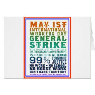 1er mai le jour international de travailleurs occu carte de vœux