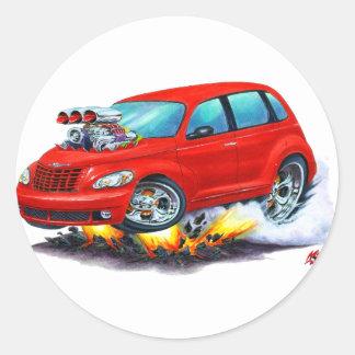2008-10 voiture de rouge de croiseur de pinte sticker rond