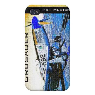 © 2009 S J de mustang de P51 de croisé Étuis iPhone 4