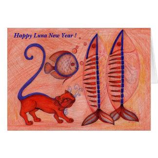 2011, nouvelle année heureuse de Luna ! Carte