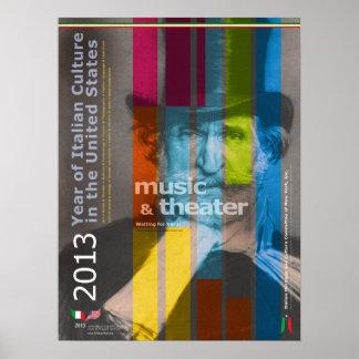 2013 ans d'affiche italienne de Giuseppe Verdi de