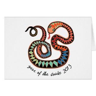 2013 ans de la carte de voeux de serpent