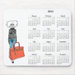 2013 calendrier fabuleusement chic Mousepad Tapis De Souris