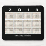 2013 calendrier simple et ordonné Mousepad Tapis De Souris