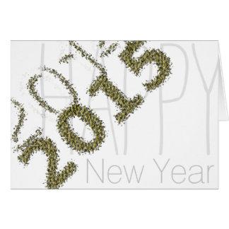 2014- 2015 bonnes années - la poussière d'or -2 - carte de vœux